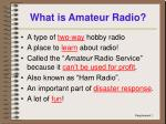 what is amateur radio