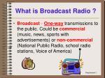 what is broadcast radio