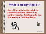 what is hobby radio