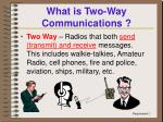 what is two way communications