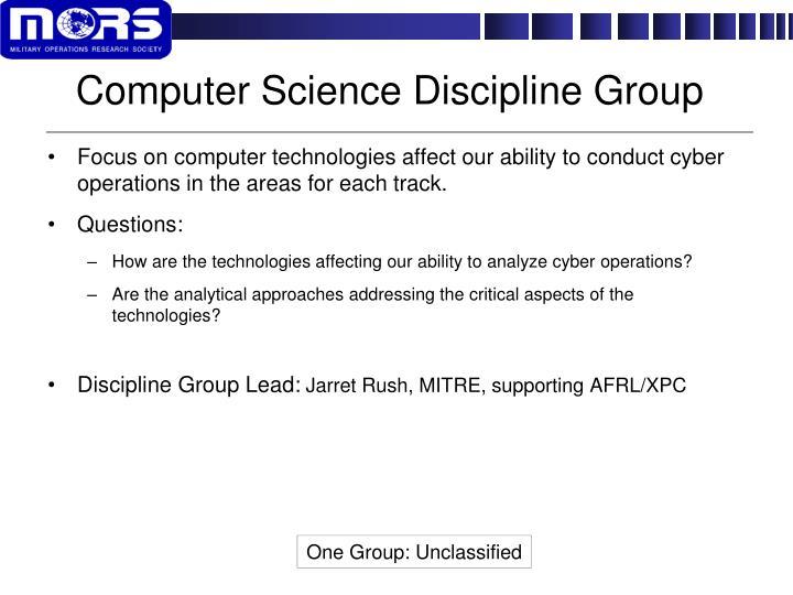 Computer Science Discipline Group
