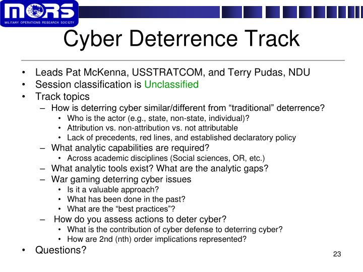 Cyber Deterrence Track