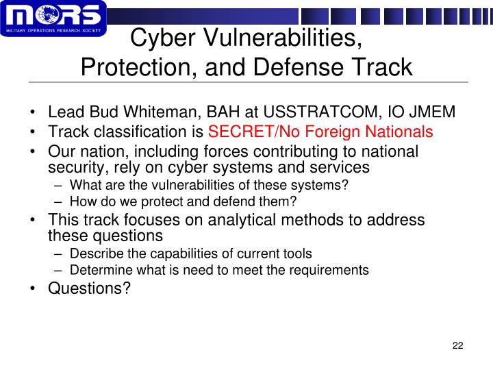 Cyber Vulnerabilities,
