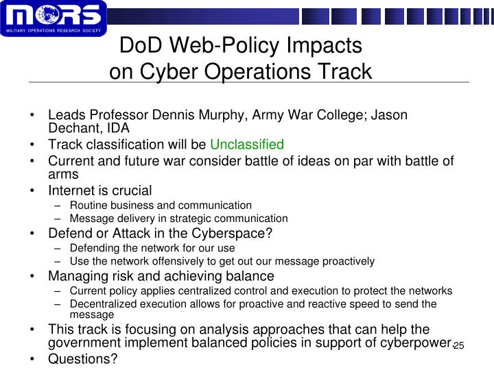 DoD Web-Policy Impacts