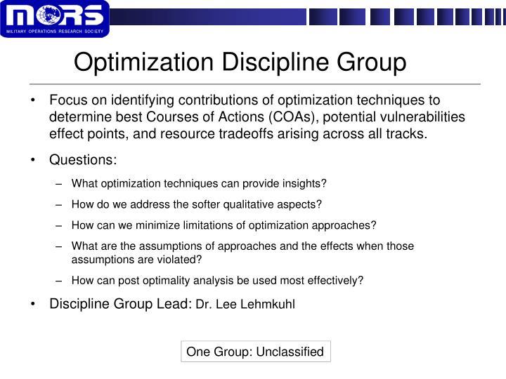Optimization Discipline Group
