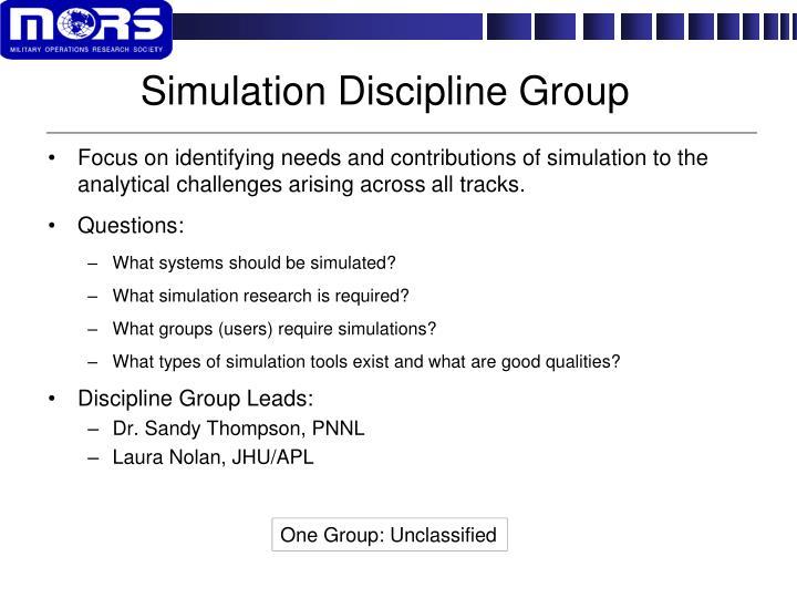 Simulation Discipline Group