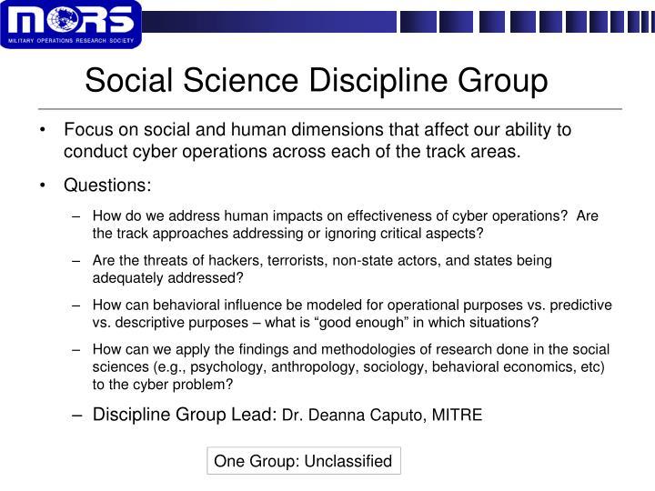 Social Science Discipline Group