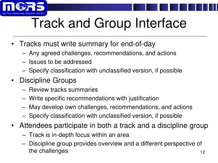 Track and Group Interface