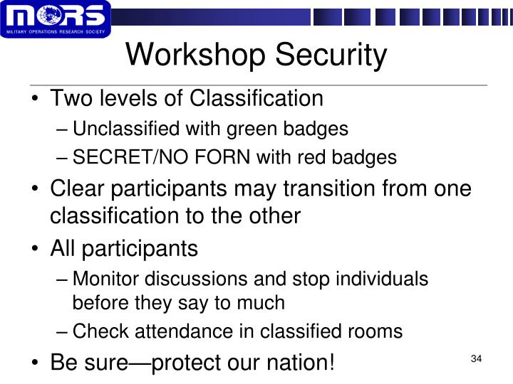 Workshop Security