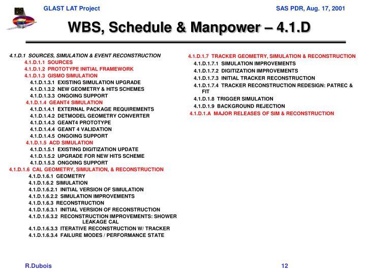 4.1.D.1  SOURCES, SIMULATION & EVENT RECONSTRUCTION