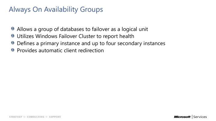 Always On Availability Groups