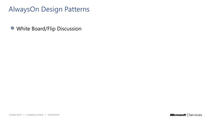 AlwaysOn Design Patterns