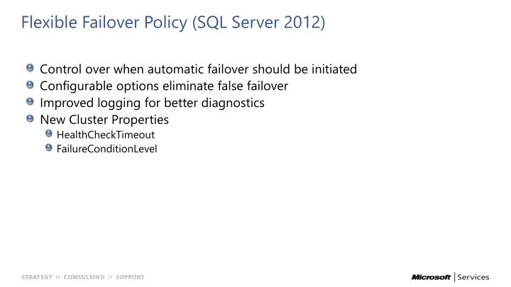 Flexible Failover Policy (SQL Server 2012)