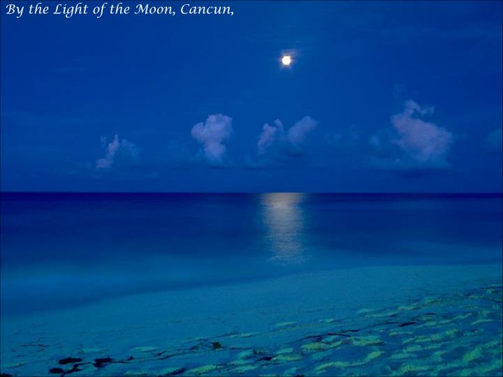 By the Light of the Moon, Cancun,