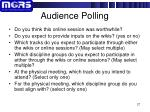 audience polling