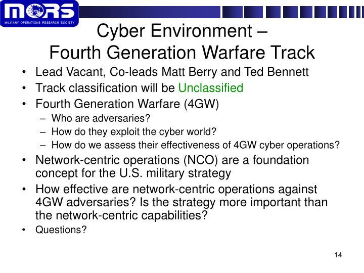Cyber Environment –