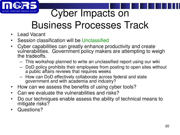 Cyber Impacts on