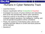 humans in cyber networks track