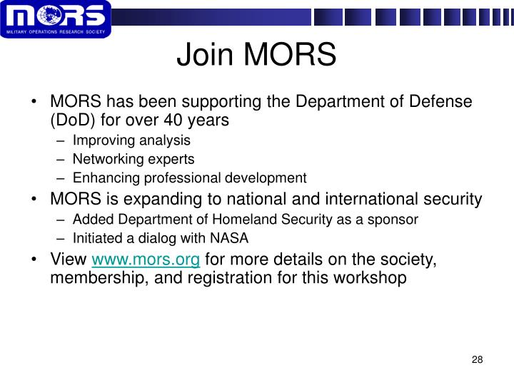 Join MORS