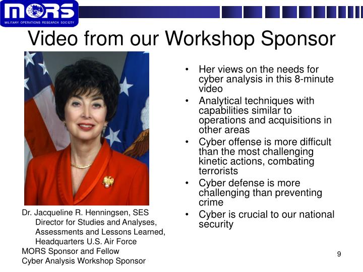 Video from our Workshop Sponsor