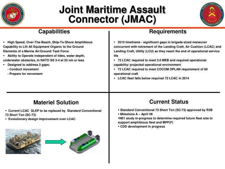 Joint maritime assault connector jmac