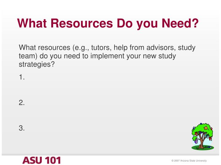 What Resources Do you Need?