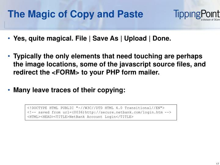 The Magic of Copy and Paste