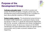 purpose of the development group