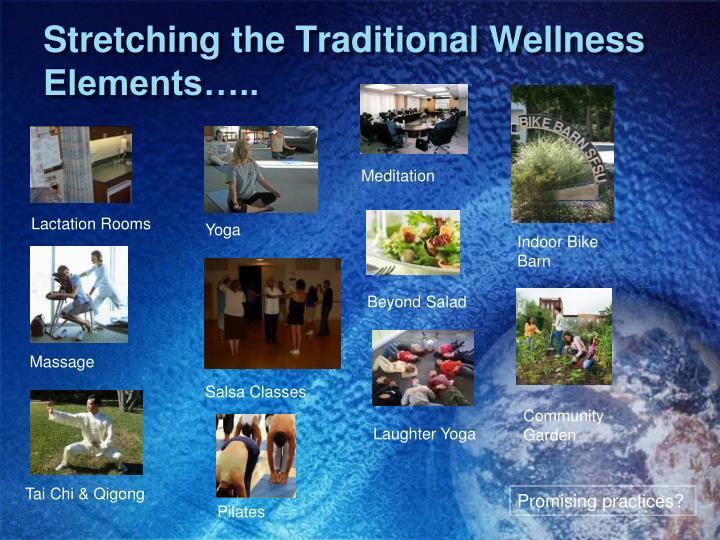 Stretching the Traditional Wellness Elements…..