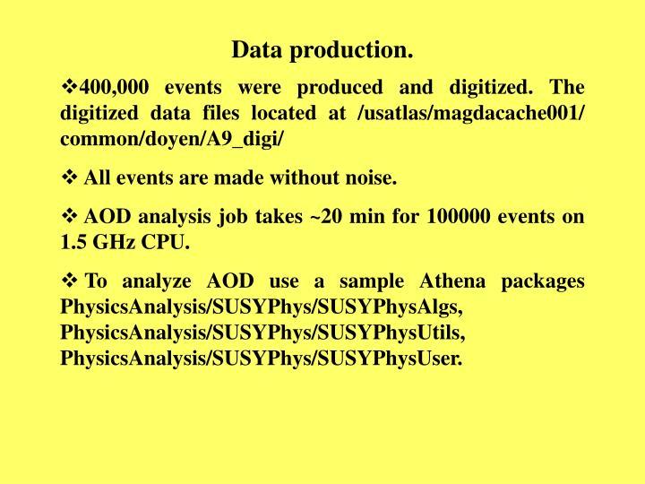Data production.