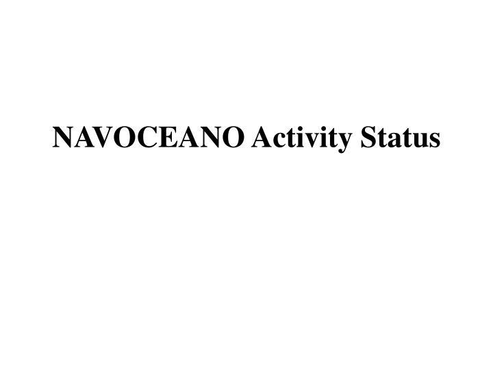 NAVOCEANO Activity Status