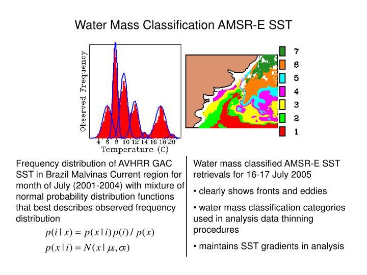 Water Mass Classification AMSR-E SST