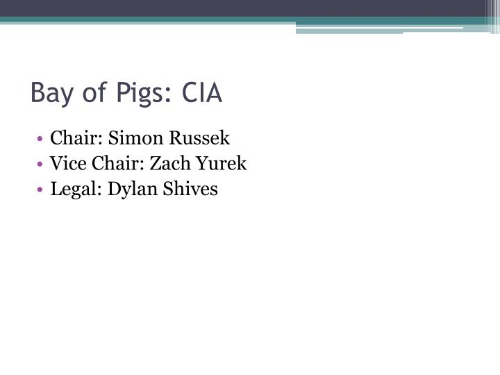 Bay of Pigs: CIA