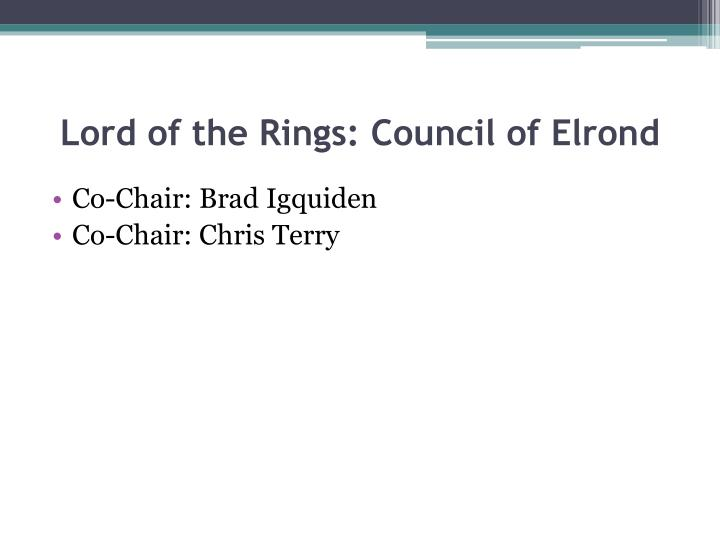 Lord of the Rings: Council of Elrond