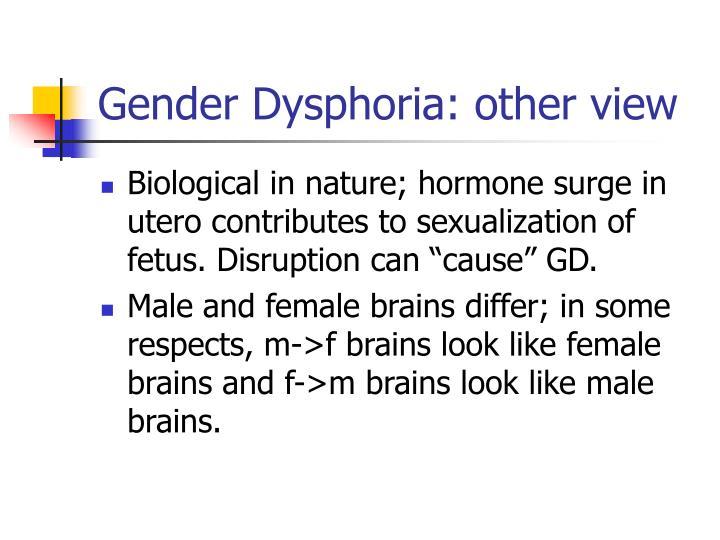Gender Dysphoria: other view