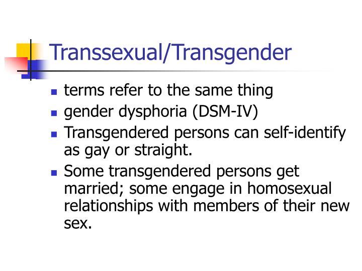 Transsexual/Transgender
