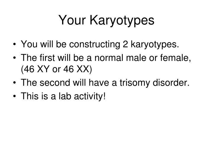 Your Karyotypes