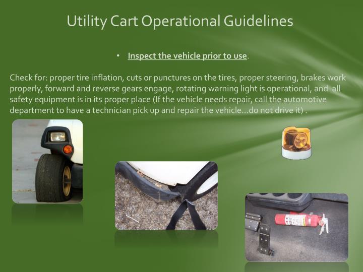 Utility Cart Operational