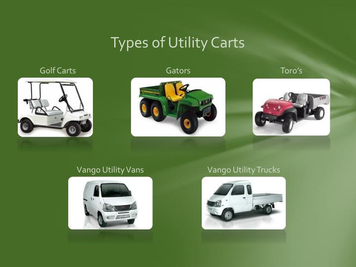 Types of Utility Carts