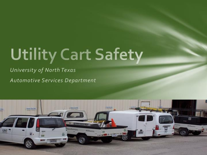 Utility Cart Safety