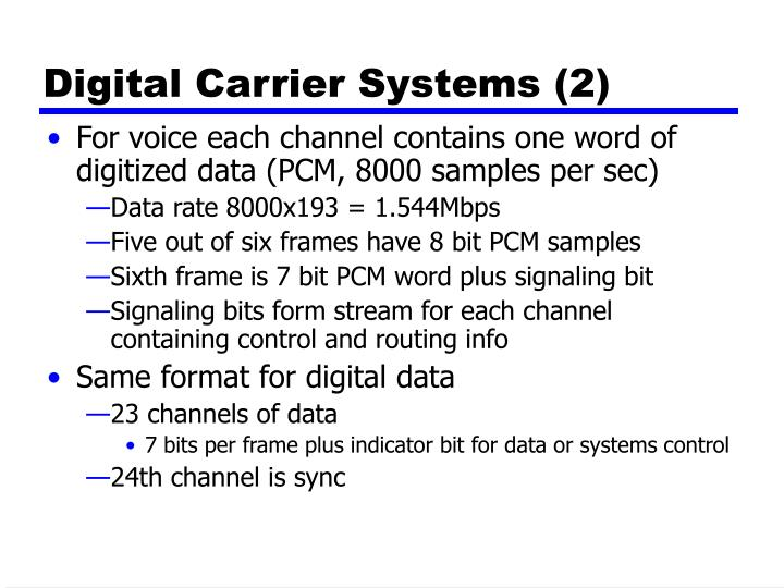 Digital Carrier Systems (2)