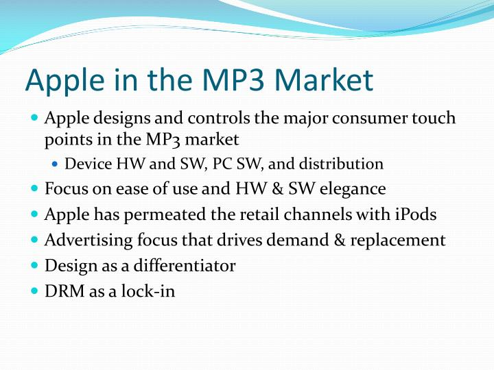 Apple in the MP3 Market