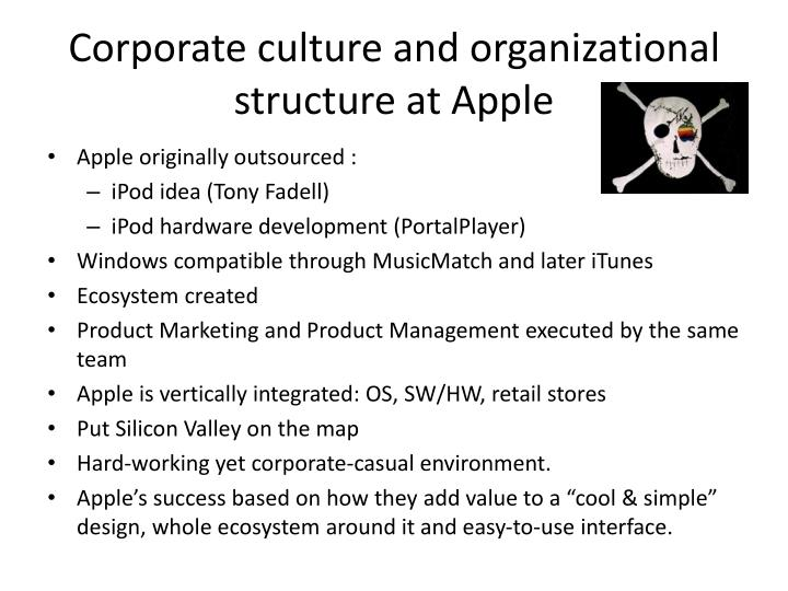 Corporate culture and organizational structure at Apple