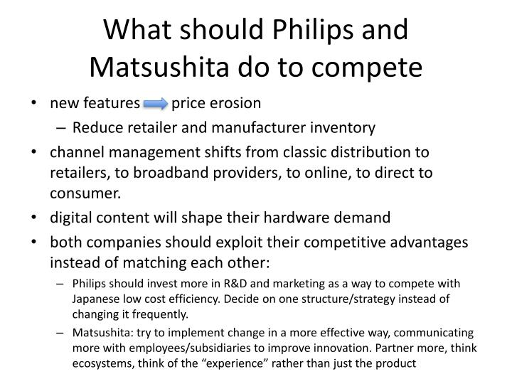 What should Philips and Matsushita do to compete