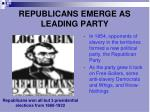 republicans emerge as leading party