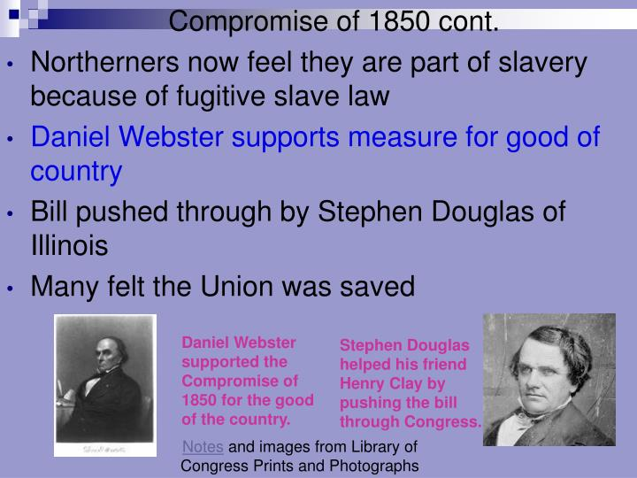 Compromise of 1850 cont.