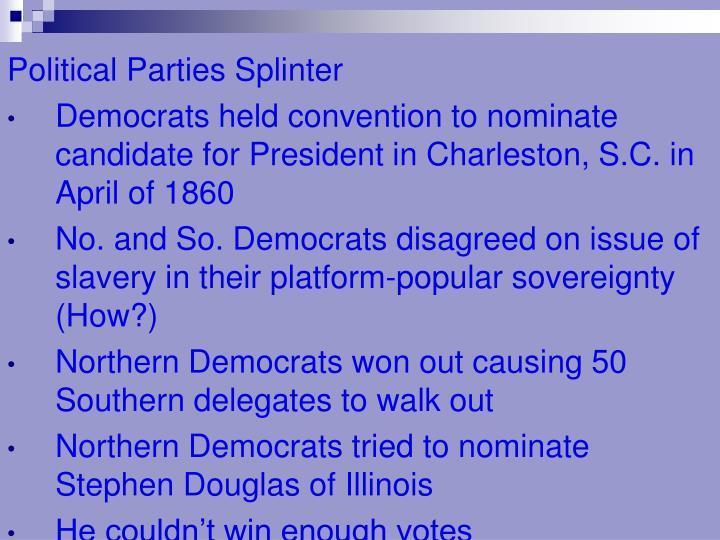 Political Parties Splinter