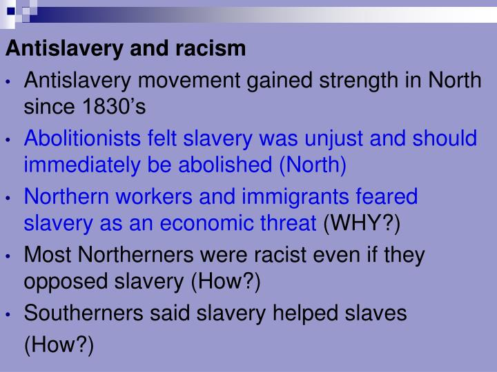 Antislavery and racism