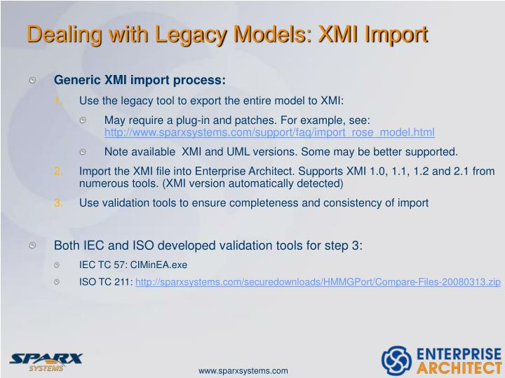 Dealing with Legacy Models: XMI Import