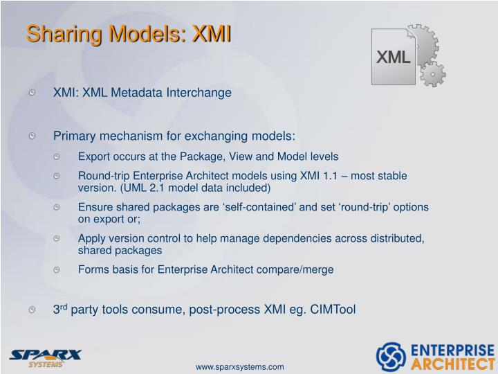 Sharing Models: XMI